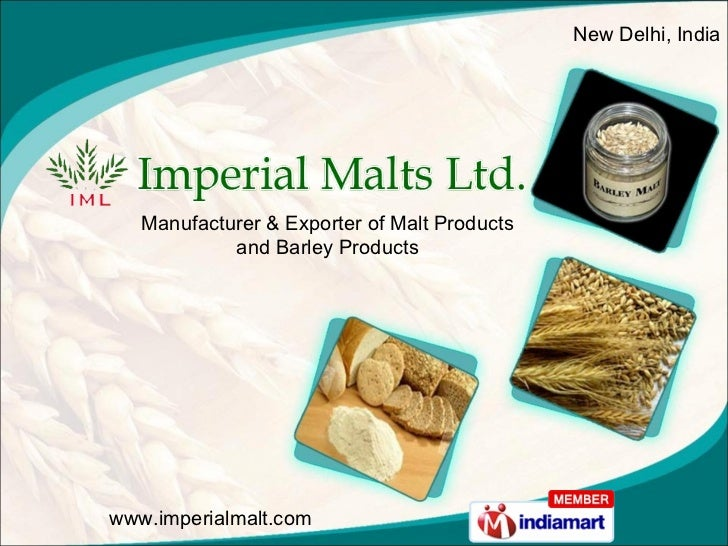 Manufacturer & Exporter of Malt Products and Barley Products New Delhi, India