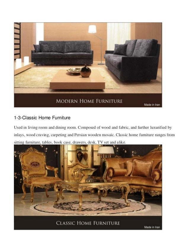 7  1 3 Classic Home Furniture. Touch Iran Furniture Market   Industry