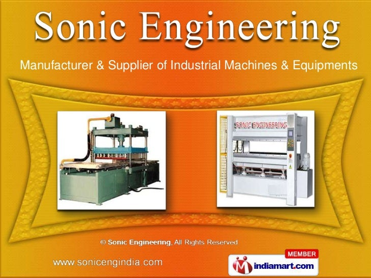 Manufacturer & Supplier of Industrial Machines & Equipments
