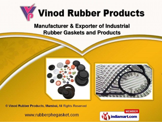 Manufacturer & Exporter of Industrial   Rubber Gaskets and Products