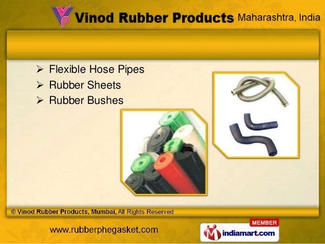  Flexible Hose Pipes Rubber Sheets Rubber Bushes