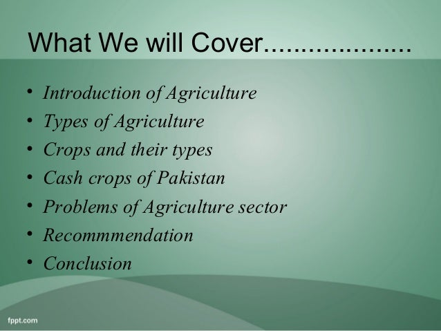 Agriculture of pakistan essay