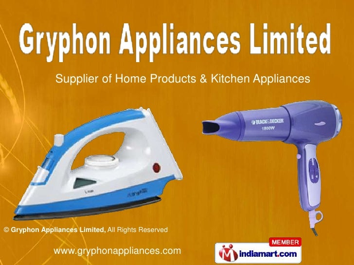 Supplier of Home Products & Kitchen Appliances<br />
