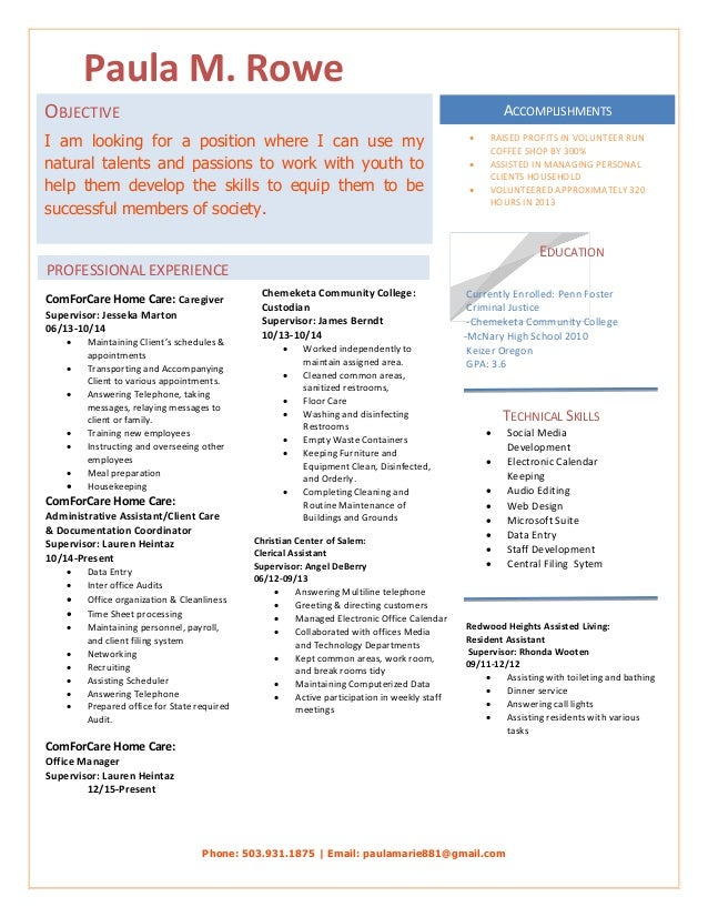 paula rowe resume
