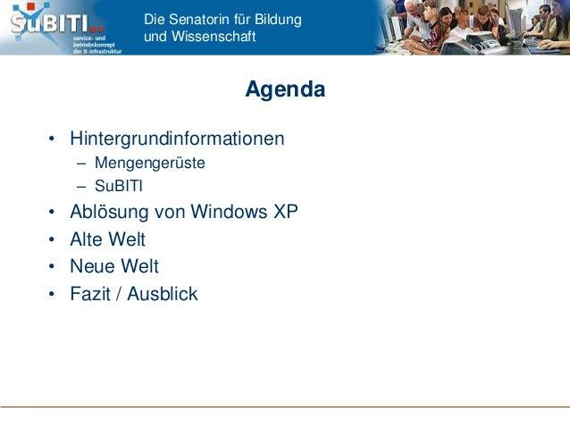 Umstieg auf Windows 8.1 mit UCS an allen Bremer Schulen in nur drei Monaten - Univention Summit 2015 Slide 2