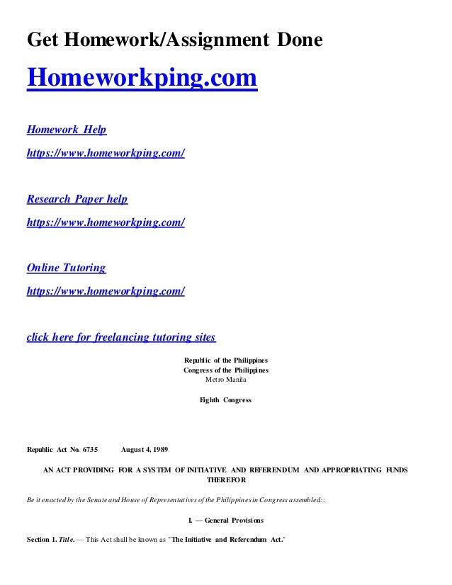 homework muna ako hon