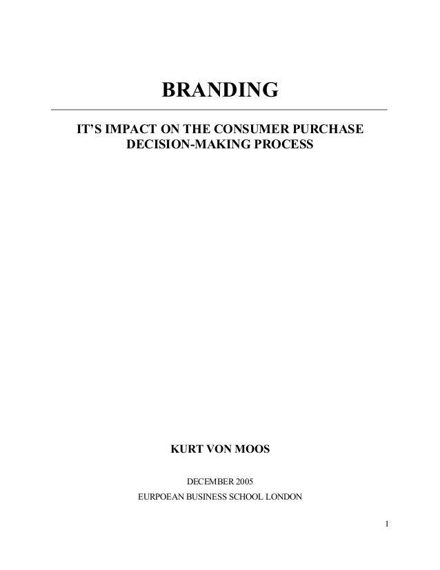 impact of branding on consumer buying behaviour literature review