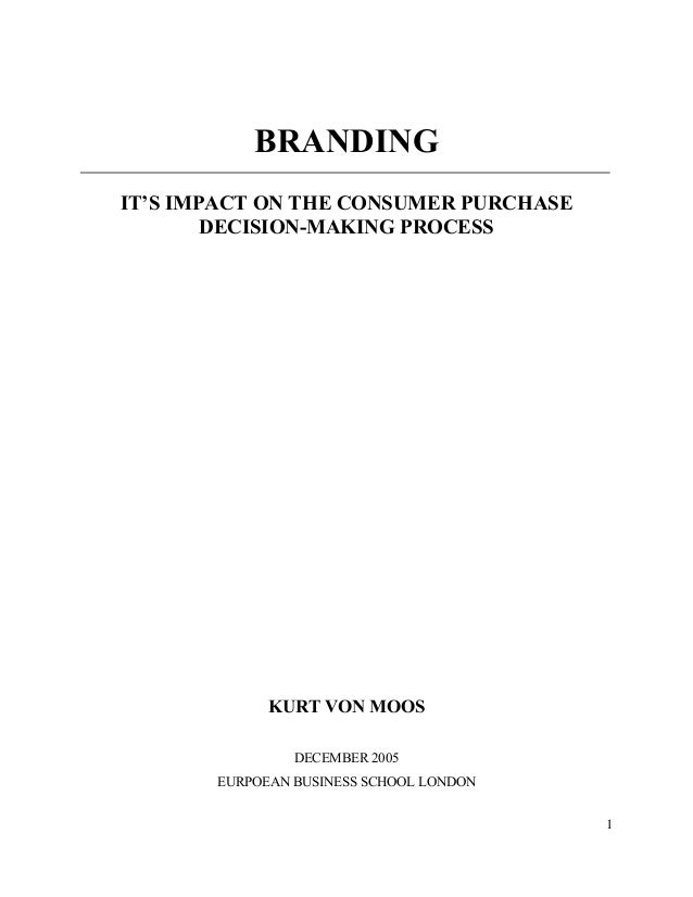 thesis on branding The assignment will require you to identify a management/business topic of interest to you,( branding) and to put forward a proposal so that you might undertake research on it.