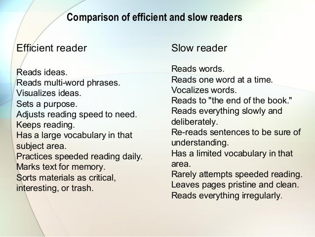 Lovely ... Reading To Study; 7. Comparison Of Efficient ...