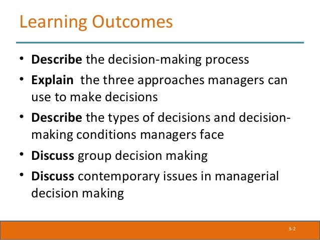decision making and contemporary approaches The contemporary approach to the organization is multidisciplinary, as many scientists from different fields have contributed to its development, emphasizing the dynamic nature of.