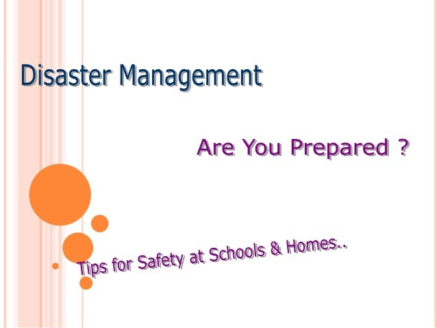 the importance of efficient emergency and disaster management strategies Component i: preparedness after identifying the most important performance needs across development of efficient, effective emergency management and incident.