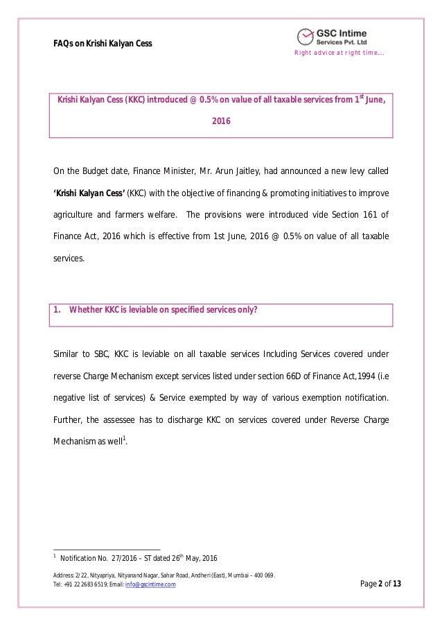 FAQs on KKC Slide 2