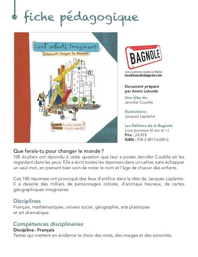 Document préparé  par Annie Lalonde  Une idée de :  Jennifer Couëlle  Illustrations :  Jacques Laplante  Les Éditions de l...