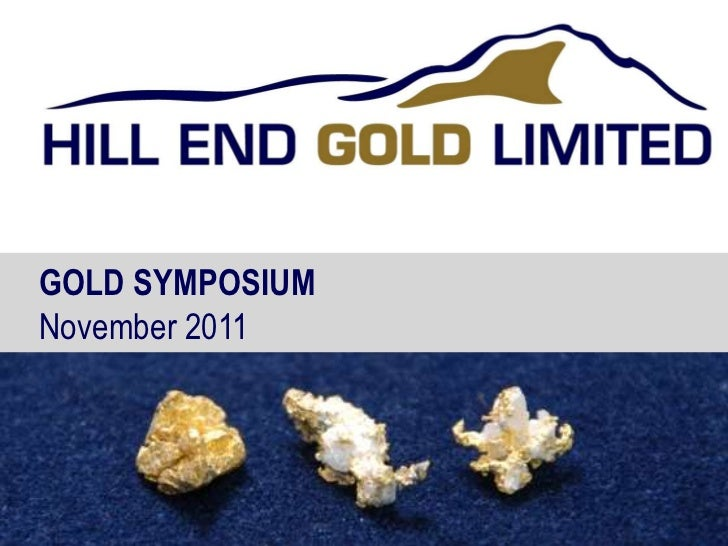 GOLD SYMPOSIUMNovember 2011                 1