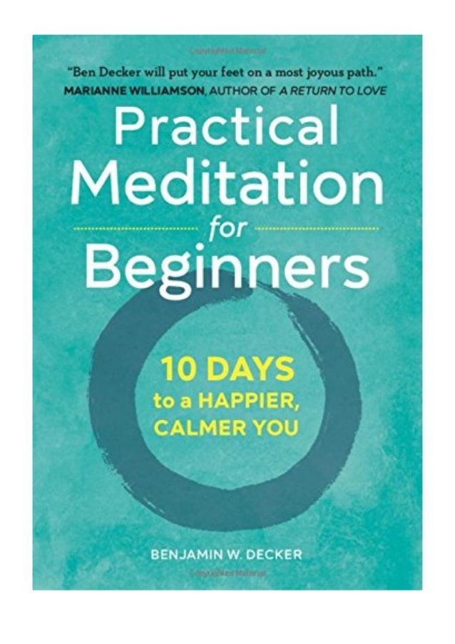 Meditation For Dummies Pdf