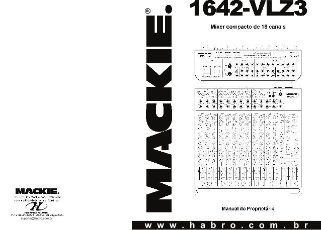 Manual do mixer Mackie 1642 VLZ3 (PORTUGUÊS)