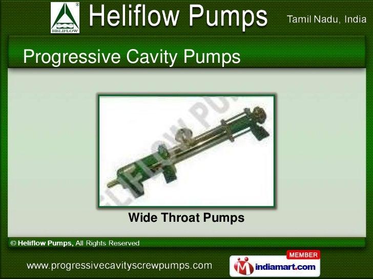 Progressive Cavity Pumps           Wide Throat Pumps