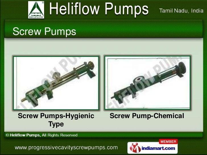 Screw PumpsScrew Pumps-Hygienic   Screw Pump-Chemical        Type
