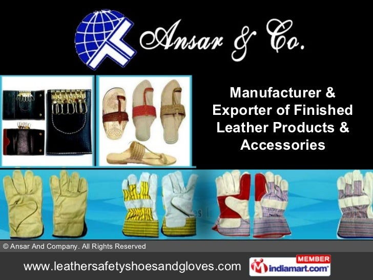 Manufacturer & Exporter of Finished Leather Products & Accessories