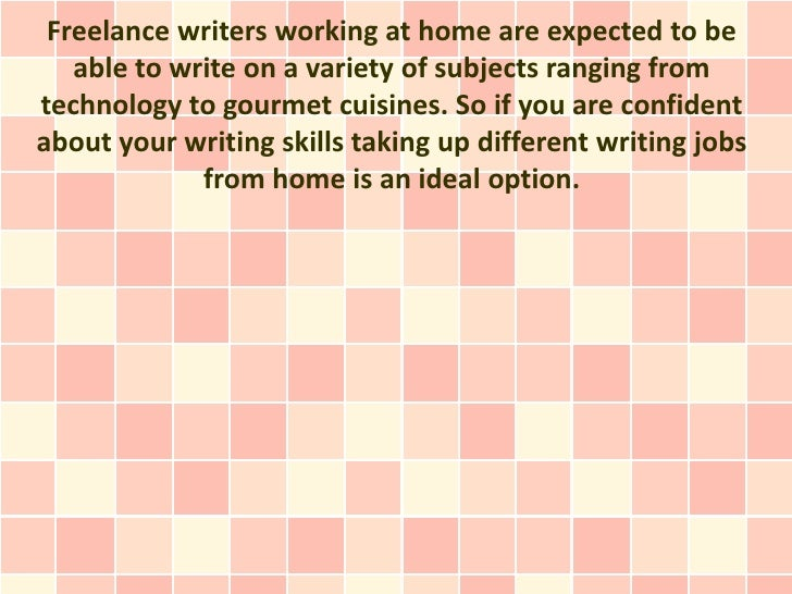 freelance writing jobs from home We have daily freelance writing job postings and useful articles designed to help  you increase  getting to work from home — even part of the time — is great.