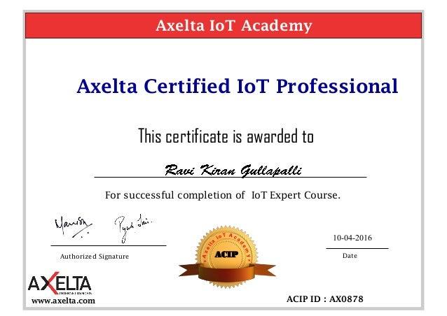 IOT Certification