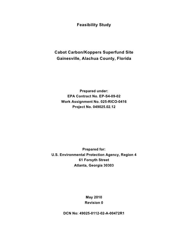 US EPA and Beazer Final Koppers Feasibility Study Rev. 1 5/12/2010