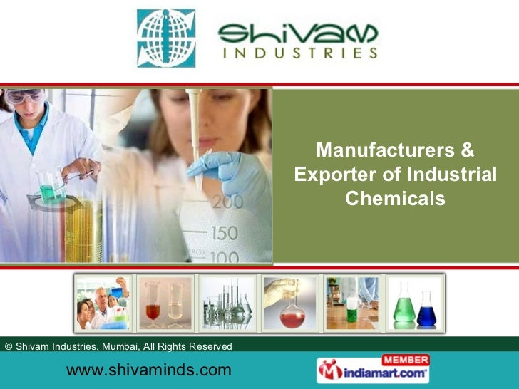 Manufacturers & Exporter of Industrial Chemicals