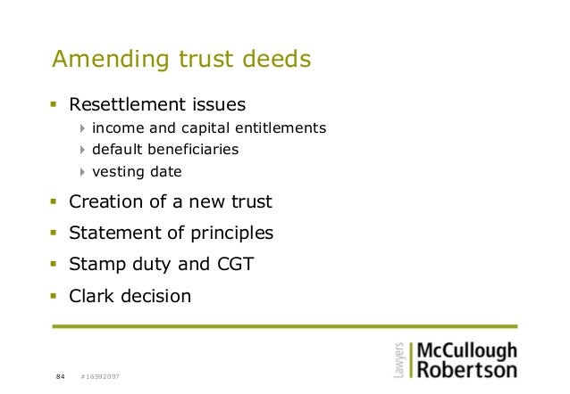 how to get a trust deed stamped in nsw