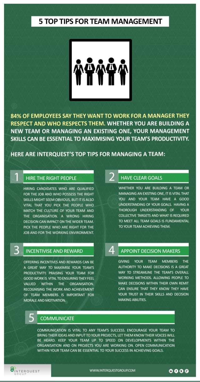 5 Tips for Team Management
