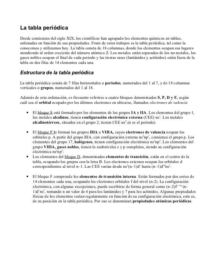 La tabla peridica bloques propiedades peridicas la tabla peridica desde comienzos del siglo xix los cientficos han agrupado los elementos qumicos urtaz Image collections