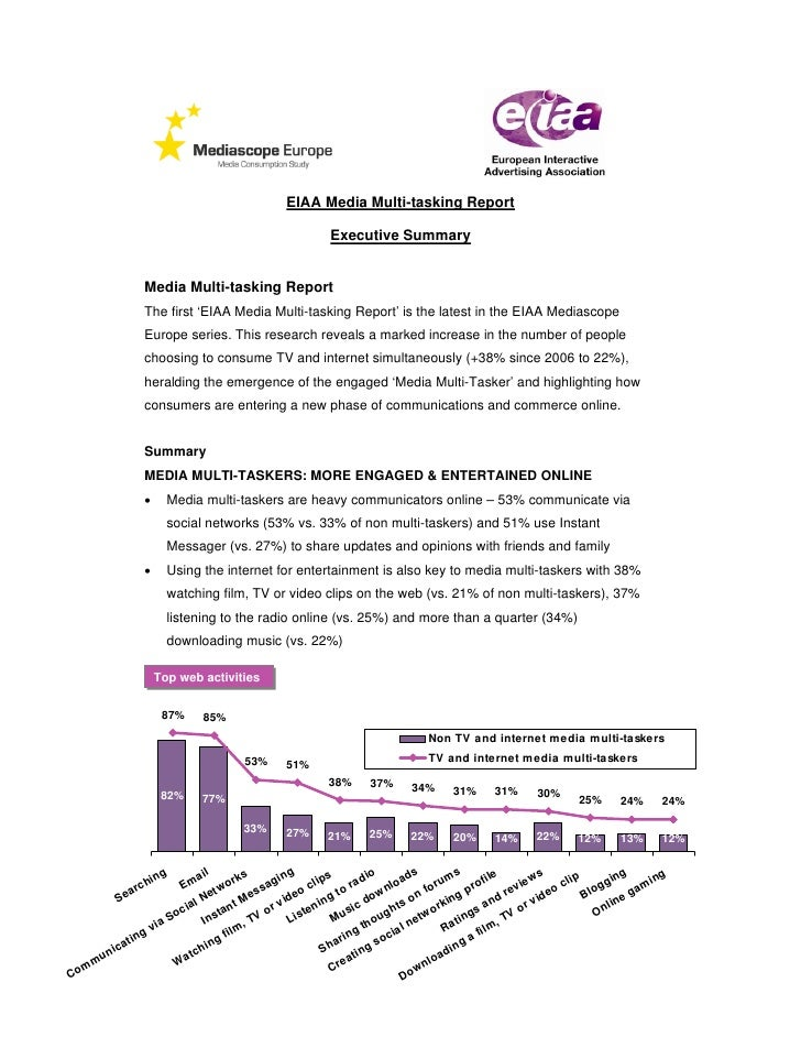 EIAA Media Multi-tasking Report                                                                    Executive Summary      ...