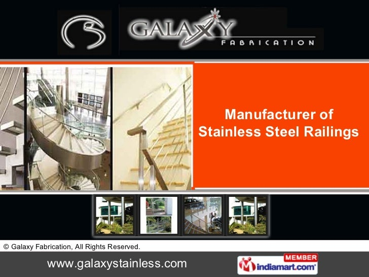 Manufacturer of Stainless Steel Railings