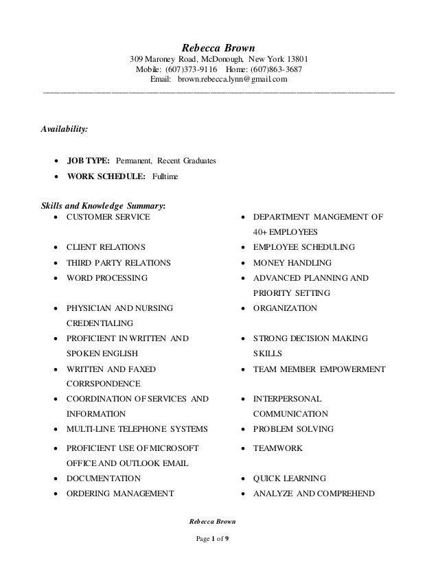 universal resume