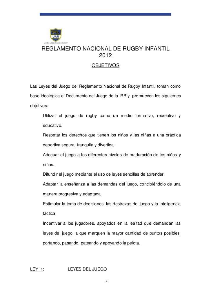 Reglamento Rugby infantil 2012 U.A.R.