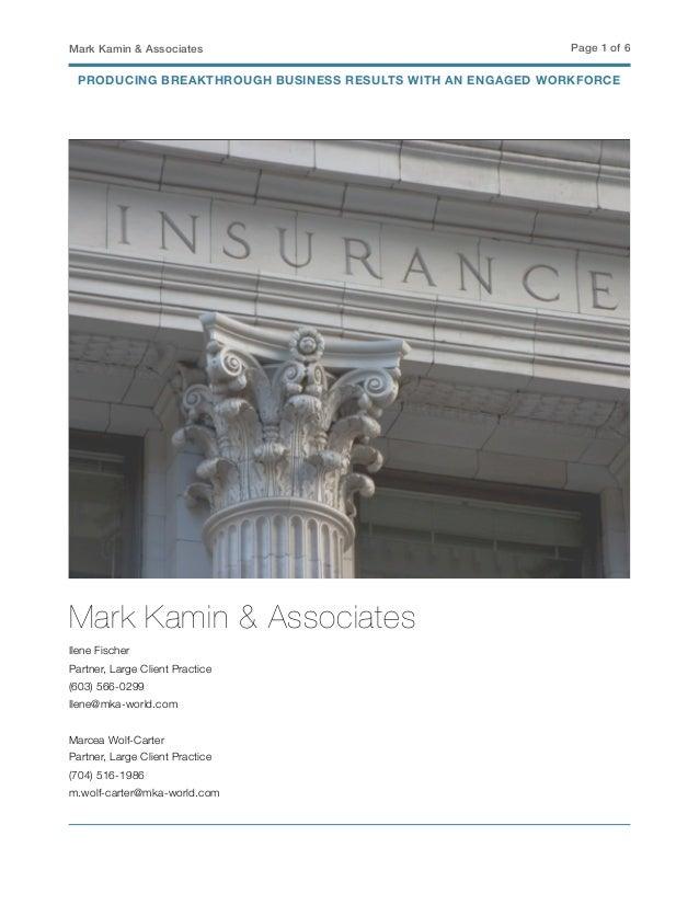 Mark Kamin & Associates Page ! of !1 6 Mark Kamin & Associates Ilene Fischer Partner, Large Client Practice (603) 566-0299...
