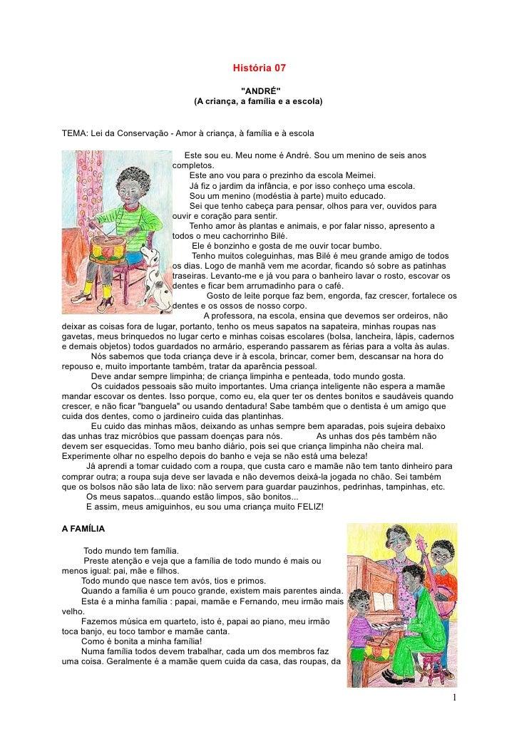 """História 07                                                """"ANDRÉ""""                                   (A criança, a família..."""