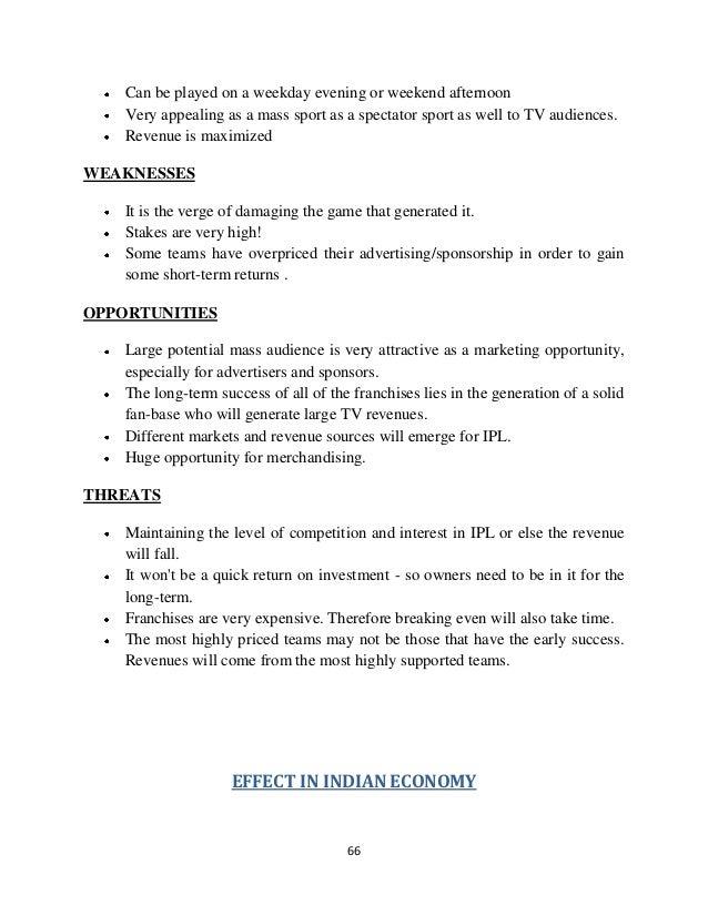 Project report on ipl indian premier league fandeluxe Gallery