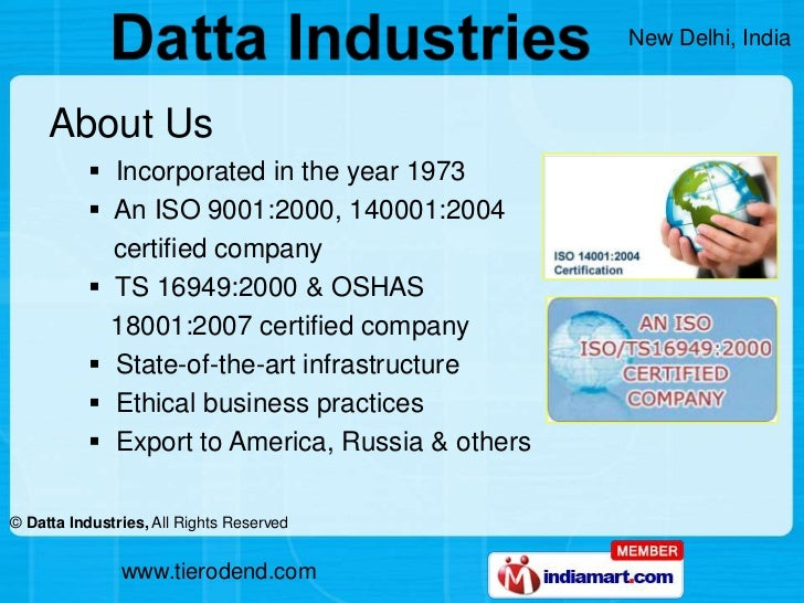 About Us<br /><ul><li>  Incorporated in the year 1973