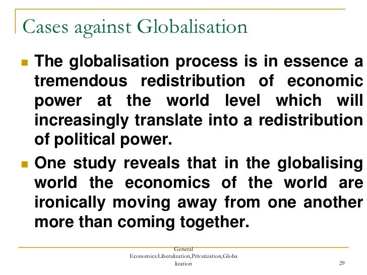 essay on liberalisation privatisation globalisation 728 words short essay on globalization in india  the main elements of this policy were liberalisation and privatisation which were also the elements of .
