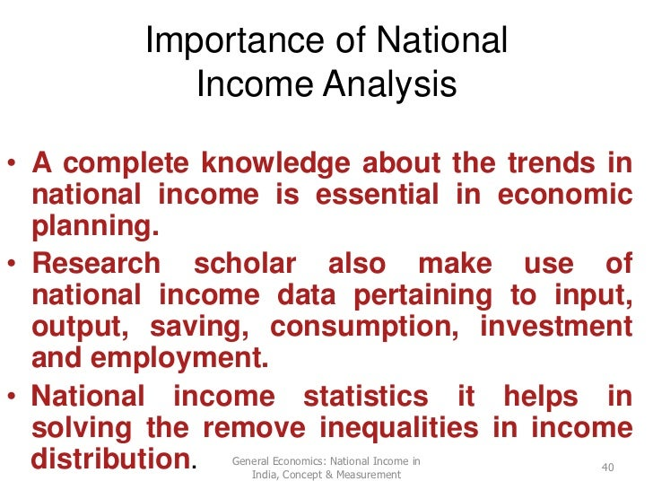 an analysis of the macroeconomics and the national income Learn macroeconomics measuring domestic output national income with free interactive flashcards choose from 369 different sets of macroeconomics measuring domestic output national income flashcards on quizlet.