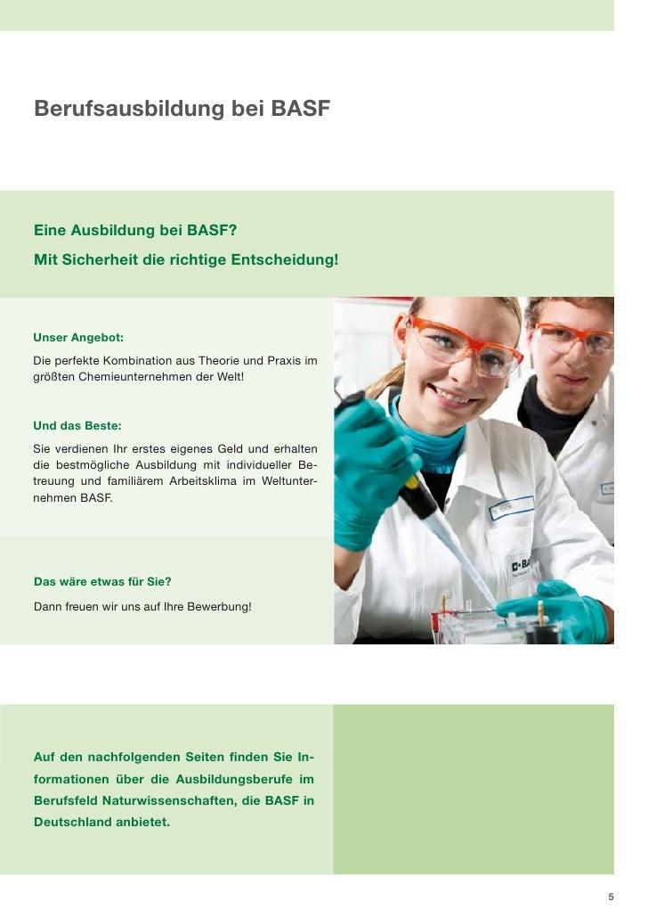 basf berufsfeld naturwissenschaften - Basf Bewerbung