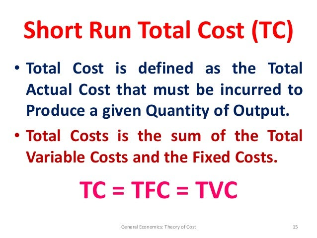 cost theory The cost theory could not explain what actually forms spot prices on any given day the austrians had a better theory this was an unambiguous advance in the science of economics, analogous to the superiority of einsteinian relativity over.
