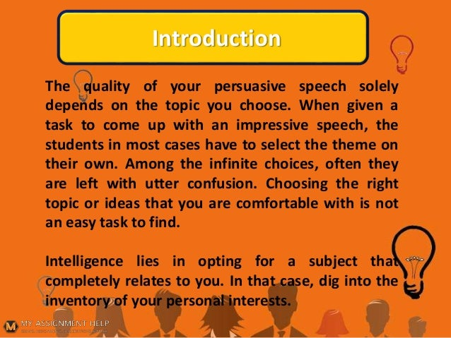 persuasive speech ideas