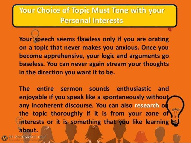 personal persuasive speech topics