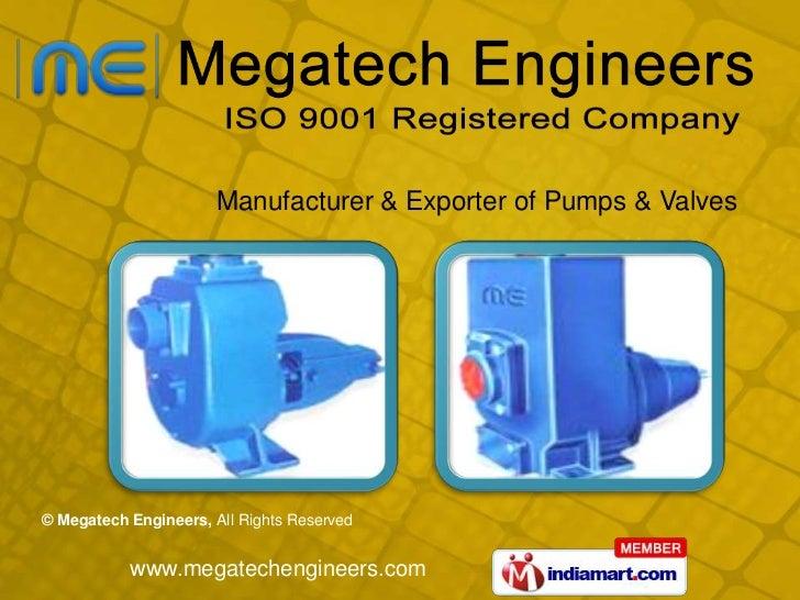 Manufacturer & Exporter of Pumps & Valves<br />