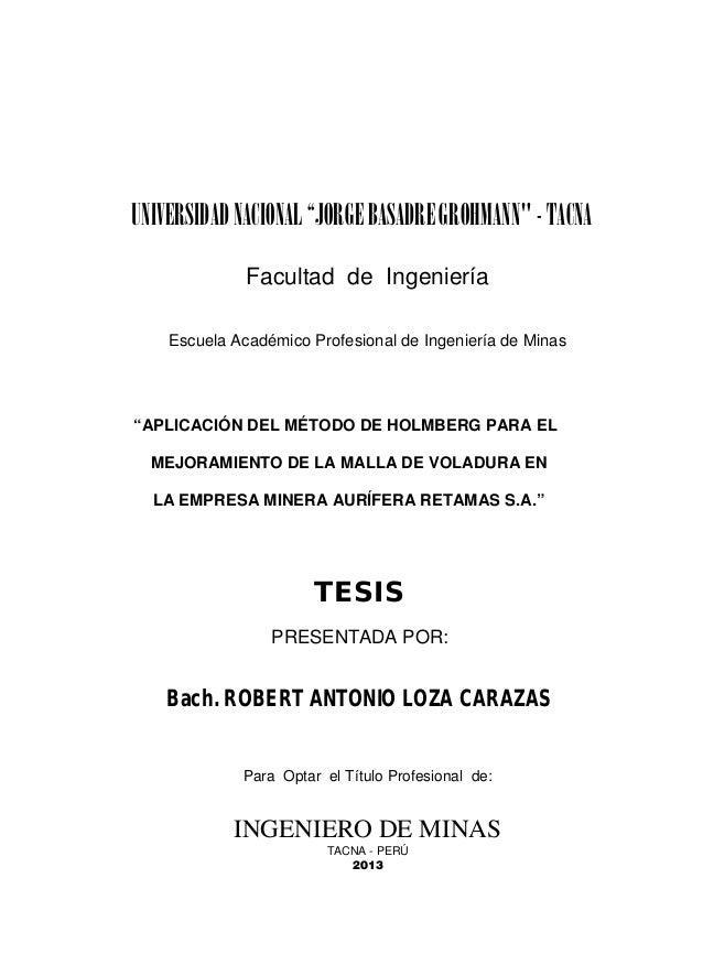 """UNIVERSIDAD NACIONAL """"JORGE BASADRE GROHMANN"""" - TACNA Facultad de Ingeniería Escuela Académico Profesional de Ingeniería d..."""