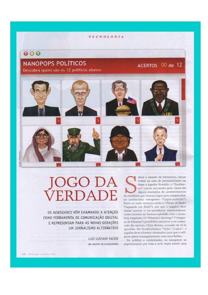Reportagem Revista Imprensa Sobre NewsGames