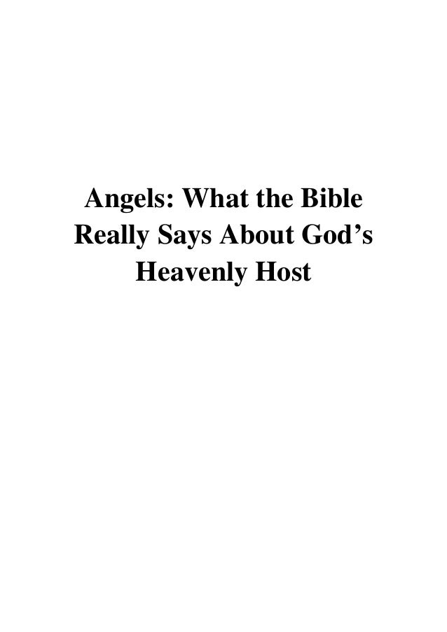 heavenly host of angels coloring pages | Angels PDF - Michael S. Heiser What the Bible Really Says ...