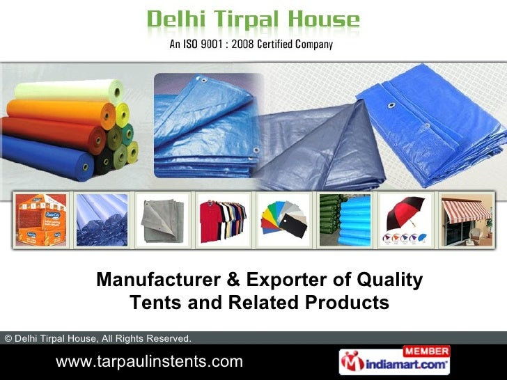 Manufacturer & Exporter of Quality Tents and Related Products