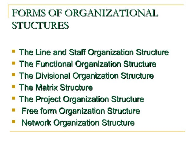 free form organisation  organisational structure